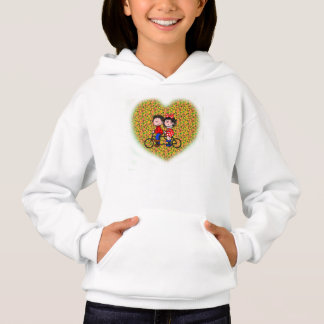 Hoodie, (with kids riding bicycle)