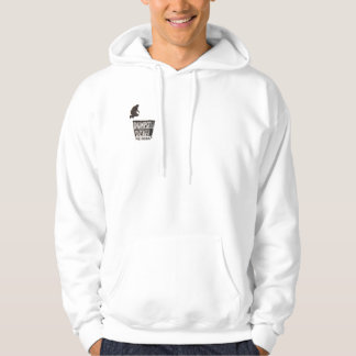 Hoodie with small Dumpster Diver musical logo