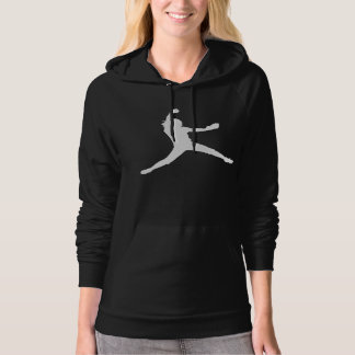 Hoodie with White Fastpitch Silhouette