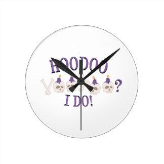 Hoodoo Skulls Wall Clock