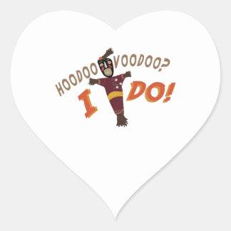 Hoodoo Voodoo Heart Sticker