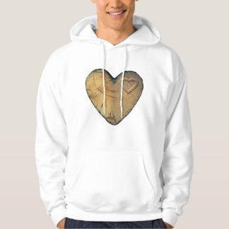 Hoody Tshirt Valentine - Wood heart