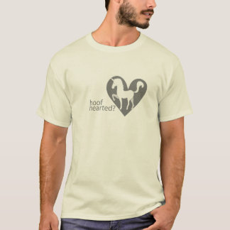Hoof Hearted Grayscale Logo with Text T-Shirt