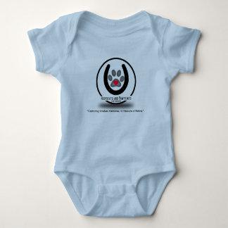 Hoofbeats and Pawprints Logo Baby Legless Jumper Baby Bodysuit