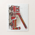 Hook and Ladder Fire Truck Jigsaw Puzzle