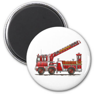 Hook and Ladder Fire Truck Magnet
