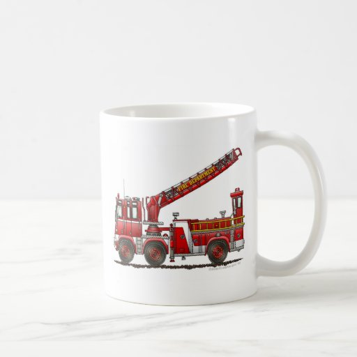 Hook and Ladder Fire Truck Mugs