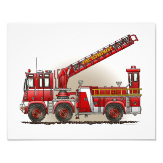 Hook and Ladder Fire Truck Photo Print