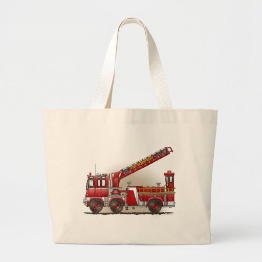 Hook and Ladder Fire Truck Tote Bag
