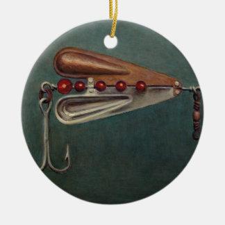 Hook Fishing Lure Ceramic Ornament