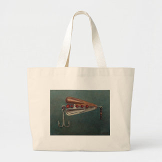 Hook Fishing Lure Large Tote Bag