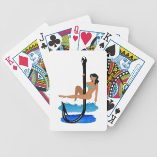 Hook, Line, Sink Her Bicycle Playing Cards