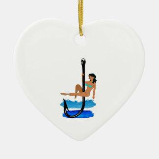 Hook, Line, Sink Her Ceramic Ornament