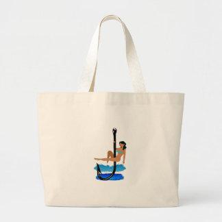 Hook, Line, Sink Her Large Tote Bag