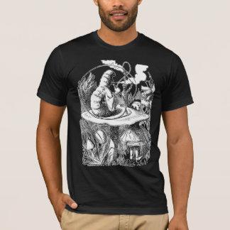 Hookah, Mushroom, Caterpillar, Alice in Wonderland T-Shirt