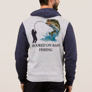 HOOKED ON BASS FISHING HOODIE
