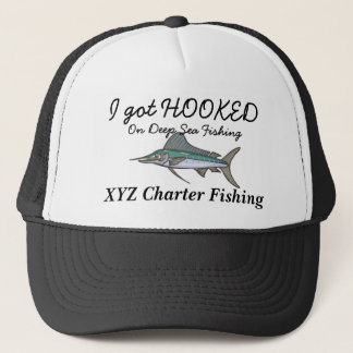 hooked on fishing cap