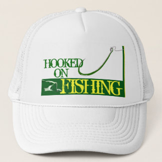 """Hooked on Fishing"" Mesh Ballcap Trucker Hat"