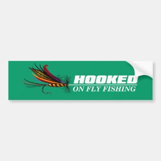 Hooked On Fly Fishing Bumper Sticker