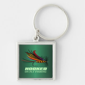 Hooked On Fly Fishing Keychain