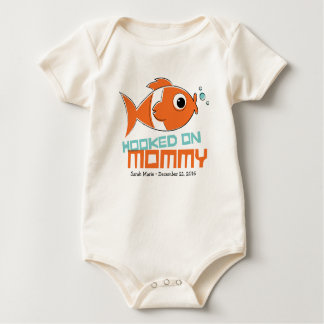 Hooked on Mommy Baby One Piece Baby Bodysuit