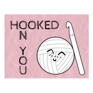 Hooked On You Crochet & Yarn Crafts Postcard