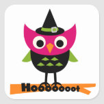 Hooooot Owl Halloween T-shirts and Gifts Square Stickers