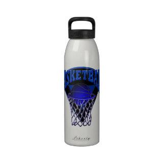 Hoop Basketball and Backboard Liberty Bottle Reusable Water Bottle