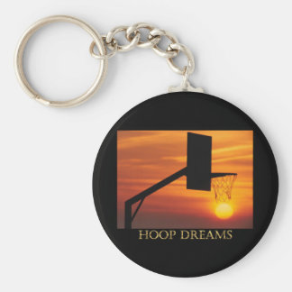 HOOP DREAMS BASIC ROUND BUTTON KEYCHAIN