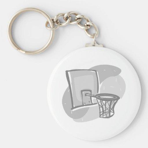 Hoop gray keychain