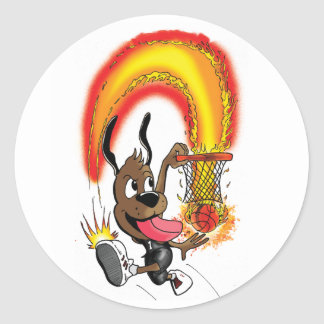 Hoop Hound sticker
