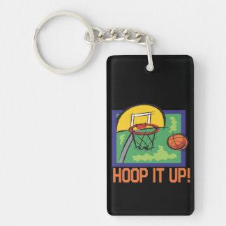 Hoop It Up 2 Double-Sided Rectangular Acrylic Keychain