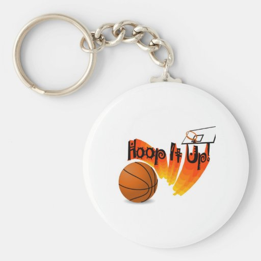 Hoop it Up  Keychain