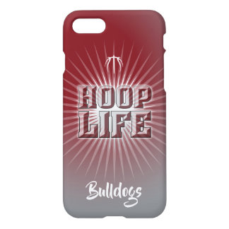 Hoop Life basketball series maroon and dark gray iPhone 8/7 Case