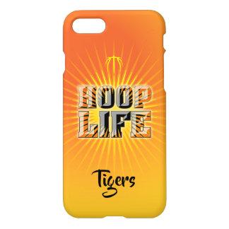 Hoop Life basketball series orange, black & yellow iPhone 8/7 Case
