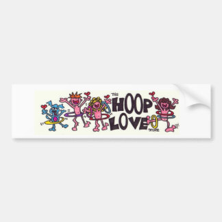 Hoop Love Bumper Sticker