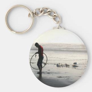 Hoop on Beach Key Chains