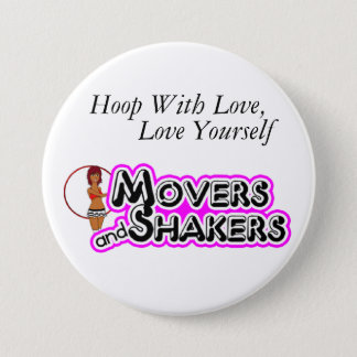 Hoop With Love, Love Yourself 3 Inch Round Button