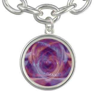 Ho'oponopono Purple Smoke Charm Bracelet