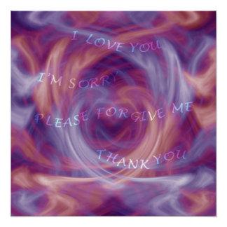 Ho'oponopono Purple Smoke Poster