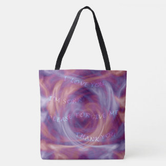 Ho'oponopono Purple Smoke Tote Bag