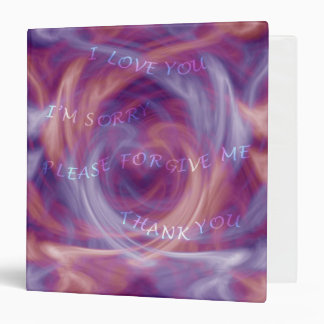 Ho'oponopono Purple Smoke Vinyl Binders