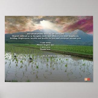 Ho'oponopono Ritual of Healing Poster