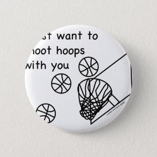 Hoops 2 Inch Round Button