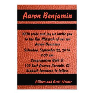 Hoops Bar Mitzvah Invitation Orange
