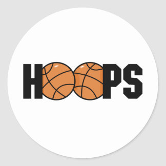 Hoops Classic Round Sticker