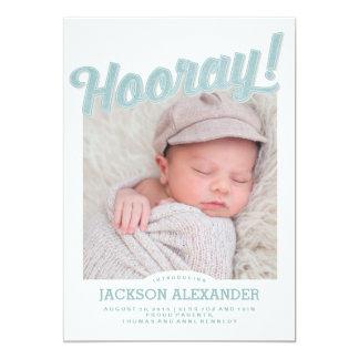 Hooray Baby Announcement