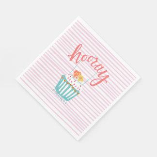 Hooray Colorful Cupcake Napkins