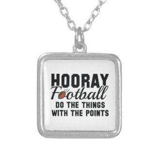 Hooray Football Silver Plated Necklace