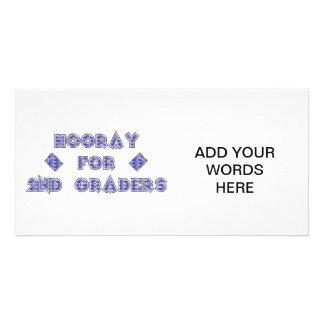 Hooray for 2nd Graders Customized Photo Card